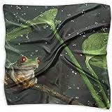 Pañuelo de seda con estampado de rana arborícola de la paz Pañuelo pequeño cuadrado Pañuelo tendencia