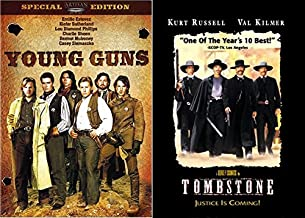 Justice is Coming Double Western DVD Bundle: Tombstone & Young Guns (Kurt Russell/ Val Kilmer/ Emilio Estevez/ Charlie Sheen)