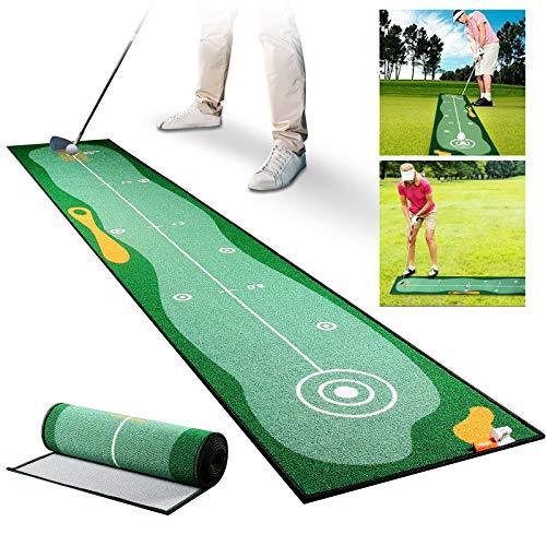 Qdreclod Golf Puttingmatte 0.5 * 3M, Professionelles Golf Übungsmatte, Indoor Büro Outdoor Golfmatte, Golf Simulation Putting Trainer Matte für Chipping Pitching