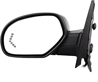 SCITOO fit Chevy GMC Driver Side Mirror Towing Mirror Puddle Lights Memory Rear View Mirror fit 2007-2013 Chevy GMC Amber Arrow Turn Signal Power Control Heated Manual Folding