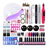 10pcs esmaltes semipermanentes de uñas en gel 8ml 36w lámpara uñas uv lámpara de luz led pulidor taladro nail pulidora torno nail art base coat top coat manicura kit