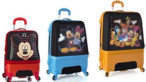 Equipaje, Maletas y Bolsas de Viaje - Premium Designer Maleta Rígida Set 3 Piezas - Heys Disney Clubhouse Equipaje de Mano + Trolley con 4 Ruedas Media + Trolley con 4 Ruedas Grande