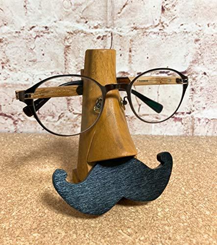 『メガネスタンド ヒゲ』:クロヒゲ 【メガネスタンド おしゃれ かわいい おもしろ 収納 眼鏡スタンド メガネ置き 眼鏡置き アニマルメガネスタンド 老眼鏡 めがね プレゼント アニマル 動物 雑貨】