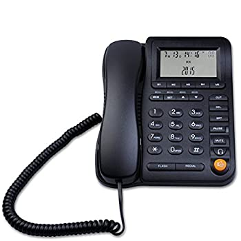 KerLiTar LK-P017 Home Office Corded Phone with Headset Jack Adjustable Display with Call ID