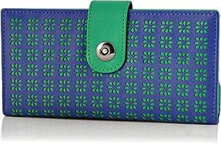 Butterflies Dark Blue Synthetic Women's Wallet (BNS 2345DBL)