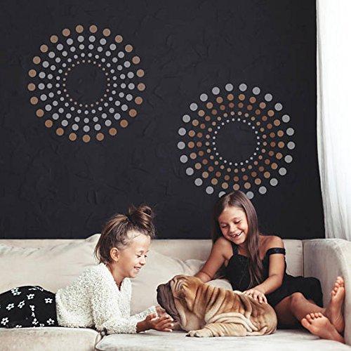 craftstar konzentrische Kreise geometrische Wand Schablone–großen wiederverwendbar Vorlage für Heimwerker/Home Decor, A1