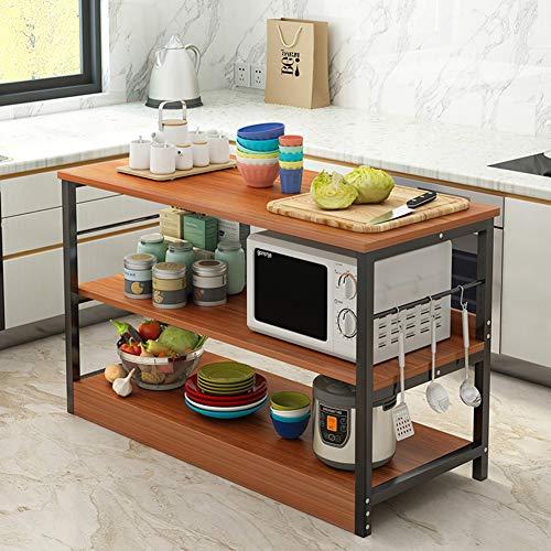 Lhh Storage Rack - Küchenregal - Multifunktionale Mikrowellenherd Ständer mit Reling, für Home Restaurant,b