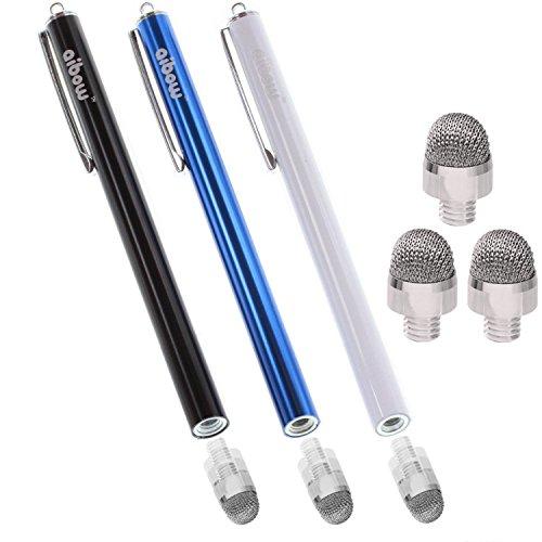 aibow タッチペン スタイラスペン iPad iPhone スマホ Android タブレット Switch 対応 3本+ペン先3個 8mm