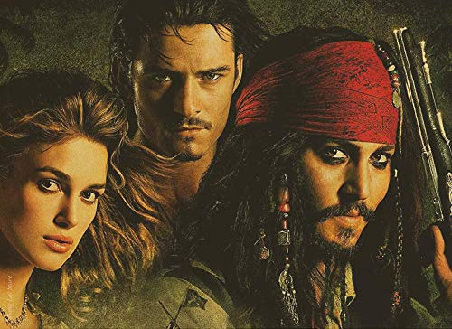 DIY 5D Diamond Painting Kits for Adults Full Drill Diamond Painting Jack Sparrow Captain for Home Wall Decor 55x40cm
