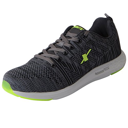 Sparx Men's Grey Fl Green Running Shoes-8 UK (42 EU) (SX0379G)