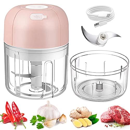 Moocuca Mini hachoir à oignons 100 250 ml multifonction ménage électrique onion cutter légumes cuisine hachoir électrique cuisine aid food processor