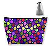Osmykqe Colourful Point Professional Cosmetic Makeup Bag Organizer Makeup Boxes