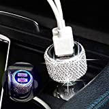 Bling Dual USB Car Charger Quick Charge 3.0 Crystal Car Decorations Fast Charging Adapter Women Cute Car Accessories for iPhone Samsung Galaxy S10/S9/S8/S7/S7 Edge/S6/Edge+ Nexus 6P/5X,LG,Nexus(White)