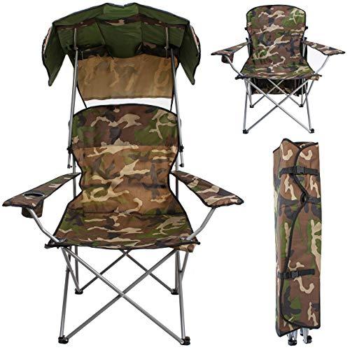 MT MALATEC Angelstuhl Klappstuhl Campingstuhl bis 120 kg Faltbar mit Tragetasche Dach 10044, Farbe:Grün