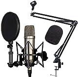 Rode NT1-A - Set de micrófono condensador, brazo articulado Keepdrum NB35 y protector contra el viento WS02