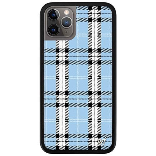 Wildflower Limited Edition Cases Compatible with iPhone 11 Pro (Blue Plaid)