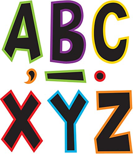 """Teacher Created Resources 77282 Electric Bright 7"""" Fun Font Letters"""