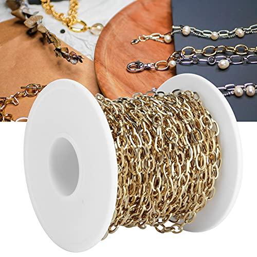 Eulbevoli Cadenas de Acero Inoxidable, antialérgico Durable Firme No es fácil de Romper Cadena extensora de Collar para Bricolaje para Collares