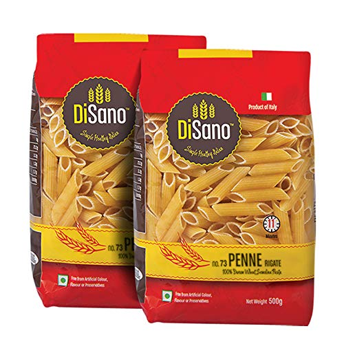 DiSano Durum Wheat Pasta, Penne, 1 kg (2 x 500g)