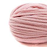 NTS Nähtechnik 50m Baumwollkordel mit Kern 6mm breit (rosa)
