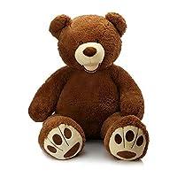 MorisMos Giant Teddy Bear with Big Footprints Big Teddy Bear Plush Stuffed Animals 39 inches