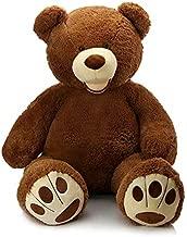 MorisMos Giant Teddy Bear with Big Footprints Big Teddy Bear Plush Stuffed Animals Dark Brown for Boy,Children,Boyfriend