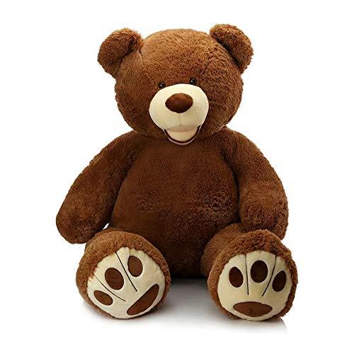 MorisMos Giant Teddy Bear with Big Footprints Big Teddy Bear Plush Stuffed Animals Dark Brown 39 inches