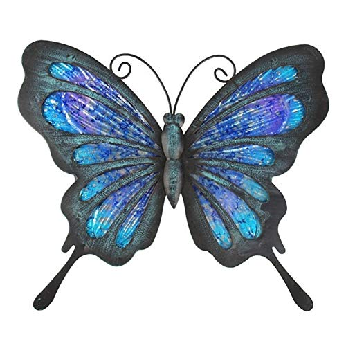 MINGMIN-DZ Dauerhaft Metall-Schmetterlings-Wand-Kunstwerk for Gartendekoration Miniaturen Statuen Tiergarten Dekor und Skulpturen for Gärten Miniatur