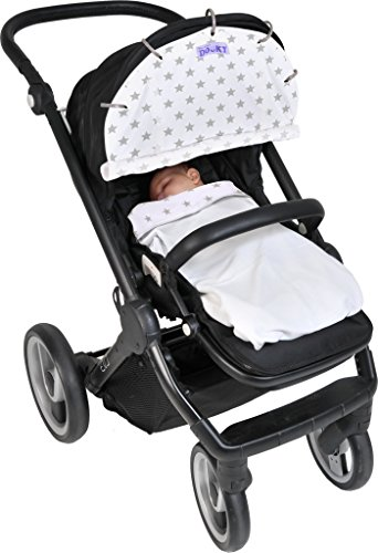 Dooky Blanket (Silver Stars) Dooky A universal and multifunctional blanket Made from 100% luxurious breathable cotton Perfect for any car seats, pushchairs, prams or carry cots 8