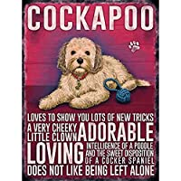コッカプー犬ティンサイン壁鉄絵レトロプラークヴィンテージメタルシート装飾ポスターおかしいポスターぶら下げ工芸品バーガレージカフェホーム