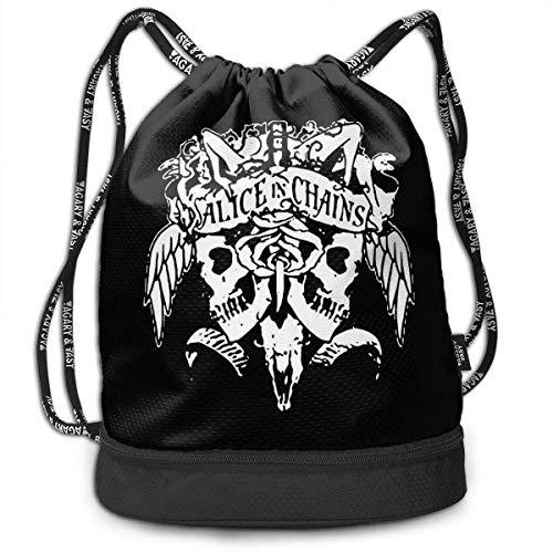 Mochila con cordón Men and Women General Travel Backpack Alice IN Chains Cool Logo Versatile Unique Design Backpack Bag