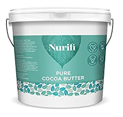Nurifi Cocoa Butter is unrefined, pure, natural and raw Nurifi Cocoa Butteris rich, hand cut and full of naturally beneficial ingredients Our Cocoa Butter melts easily in the hand, easy to apply all over the face and body Nurifi Cocoa Butter ideal f...