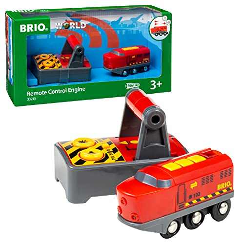 BRIO World - 33213 Remote Control Train Engine | 2 Piece Train Toy for Kids Ages 3 and Up