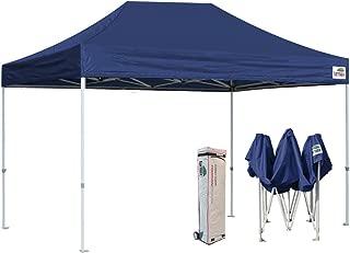 Eurmax New 10x15 Ft Premium Ez Pop up Canopy Instant Canopies Shelter Outdoor Party Tent Gazebo Commercial Grade Bonus Roller Bag (Navy Blue)
