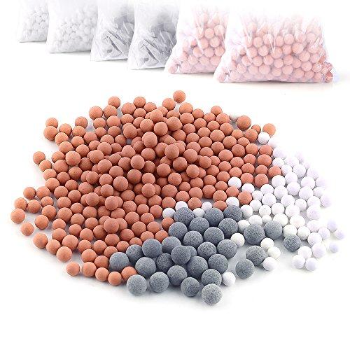 Austor 6 pacchetti di ioni negativi (palle, sostituzione bio - attive stone per ionico filtro palmare doccia, purifica doccia d'acqua ringiovanisce pelle e capelli