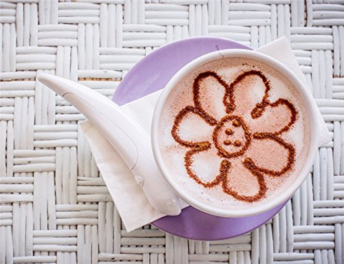 Cinnibird Just A Finch Spice Pen For Latte & Food Art - Make Creative Messages & Drawings With All Natural Materials - Works With Cinnamon, Coffee Grounds, Cocoa Powder, Ground Sugar, and More