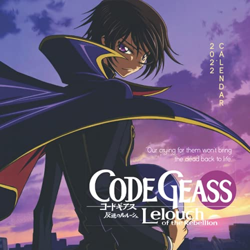 Code Geass 2022 Calendar: Yearly Monthly 18-month Calendar 2022 with Large Grid for Planning, Scheduling, and Organizing