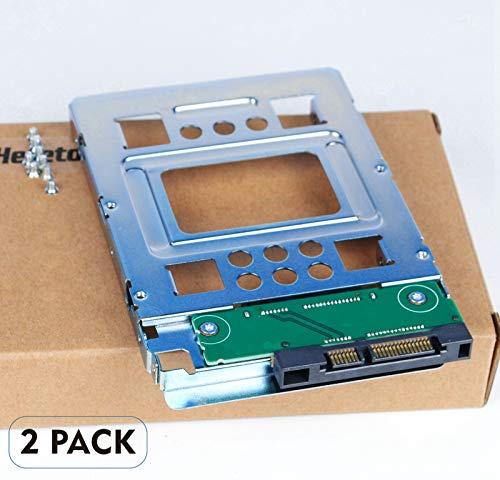 Heretom 2 Stück 2,5 Zoll SSD auf 3,5 Zoll SATA Festplattenrahmen HDD Adapter Caddy Tray Hot-Swap Konverter Kompatibel mit allen die 3,5