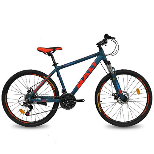Hiland 26 Inch Mountain Bike Aluminum Disc-Brake 21Speed MTB Bicycle for Men with Suspension Fork Urban Commuter City Bicycle Blue