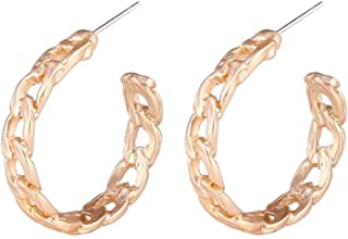 Bishilin Gold Plated Earrings for Women Hollow Geometry Anniversary Party Earrings Gold