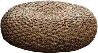 JYSD Paja futón Cojín Engrosamiento Ronda Ceremonia del té Rattan Cojín de Suelo Estera de la Hierba D4/30