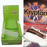 25 librillos papel de fumar Gizeh 1 1/4 + 2000 filtros Krypton 6mm finos (slim)