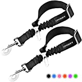 URPOWER Upgraded Dog Seat Belt 2 Pack Dog Car Seatbelts Adjustable Pet Seat Belt for Vehicle Nylon Pet Safety Seat Belts Heavy Duty & Elastic & Durable Car Seat Belt for Dogs, Cats and Pets