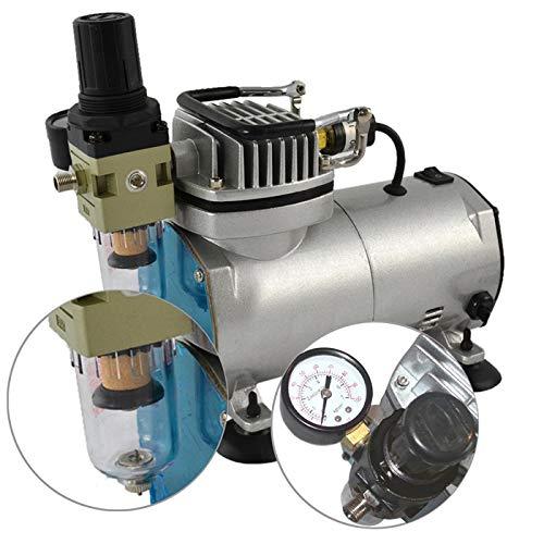 AIRBRUSH KOMPRESSOR Compact II-Das STANDARD-Gerät f. d. Anfänger mit Anspruch sowie f. d. Fortgeschrittenen f. individuellen AIRBRUSH-SET Aufbau, Einstellbarer Druck, Manometer, Vorfilter-Wasserabscheider Abschaltautomatik