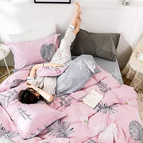 Ygccw Bedding Duvet Cover & Pillowcase Set,Satin striped duvet cover with grey pillowcase (double room)-zx020_220 * 240