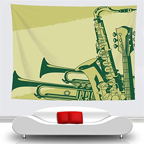 OTIAN Wandteppich Indisch Home Decor Musikalische Note Tapisserie Wandbehang Picknick Teppich Camping Zelt Isomatte Tagesdecke Blatt