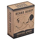 Beard Buddy Shaving Bib - Attaches to mirror with suction cups for mess free styling trimming