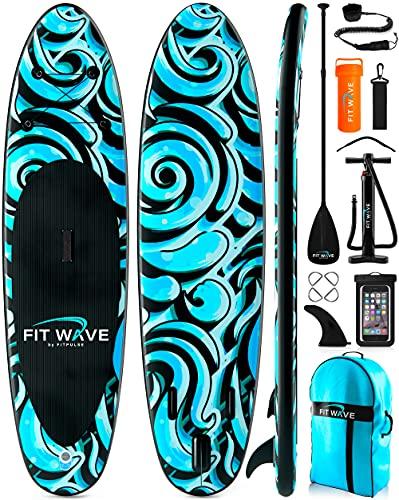Tabla Paddle Surf Hinchable 305 cm - Tablas Hinchables de Paddle Surf Tabla Surf Hinchable con Remo Paddle Surf Ajustable Bomba Paddle Surf Mochila Reparación Kit Leash de Surf Bolsa Impermeable