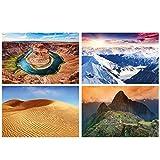 GREAT ART® Set mit 4 Poster – Landschaften – Natur
