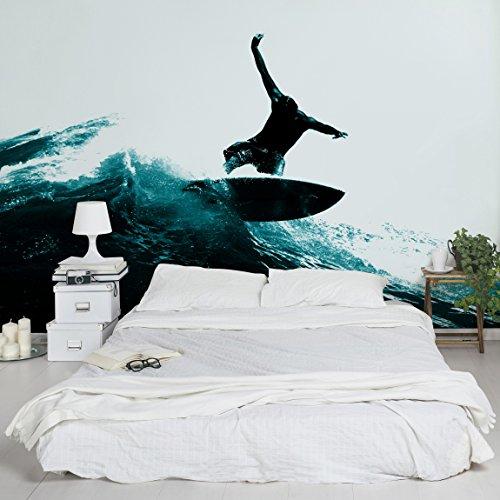 Apalis Kindertapeten Vliestapeten Surfing Hero Fototapete Breit | Vlies Tapete Wandtapete Wandbild Foto 3D Fototapete für Schlafzimmer Wohnzimmer Küche | blau, 95023